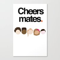 misfits Canvas Prints featuring Misfits Cheers by The Kid