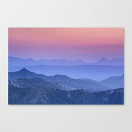 """Mountain dreams"". At sunset. Canvas Print"