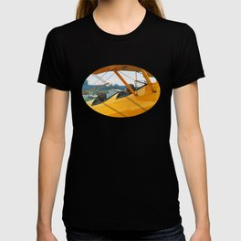 Oldtimer yellow plane T-shirt