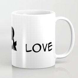 Peace and Love Motivational Pop-Art Coffee Mug