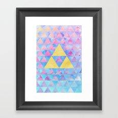 Zelda Geometry Framed Art Print