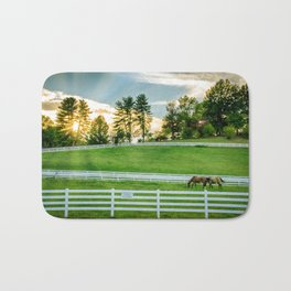 Sunrise on the Ranch Bath Mat