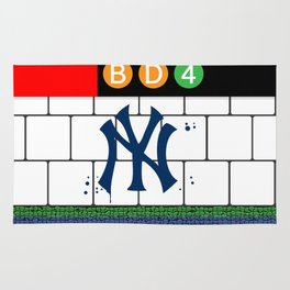 NYC Yankees Subway Rug