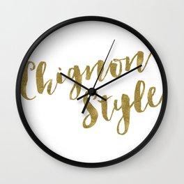 Chignon Style Wall Clock