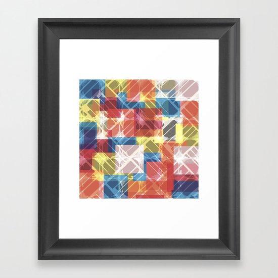 squares n holes... Framed Art Print