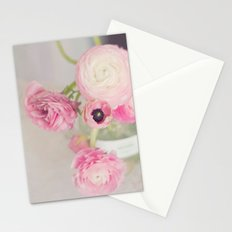 Pale Pink Ranunculus Stationery Cards