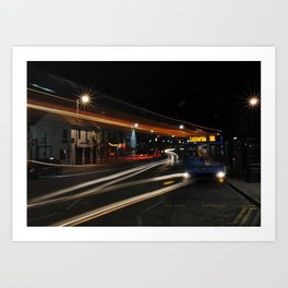 The Bus At The Stop Art Print