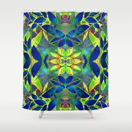 Floral Fractal Art G373 Shower Curtain