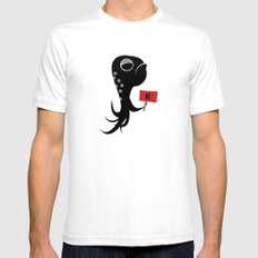 Squid of No SMALL White Mens Fitted Tee
