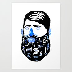 Animal Beard Art Print