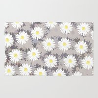 daisies Area & Throw Rugs featuring Daisies by Georgiana Paraschiv