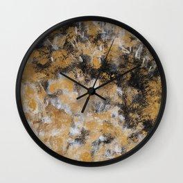 Black, Gold & White Wall Clock