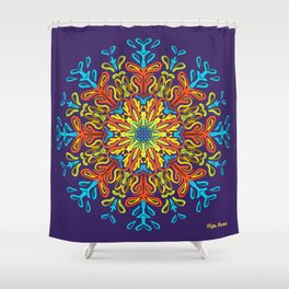 Gracias a la Vida (Púrpura) Shower Curtain