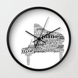 Typographic Piano Wall Clock