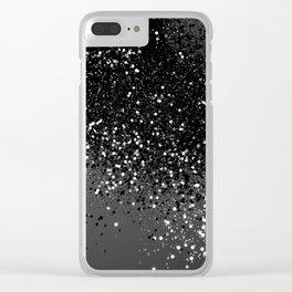 Dark Gray Black Lady Glitter #1 #shiny #decor #art #society6 Clear iPhone Case
