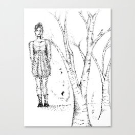 stipples Canvas Print