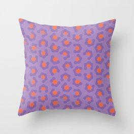 Purple Leopard Print - Jungle Brights Throw Pillow