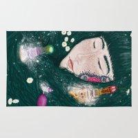 perfume Area & Throw Rugs featuring Hair Perfume by Luna Kirsche