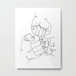 Family Hands Minimal  IV Metal Print