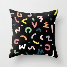 Neon Lights Throw Pillow