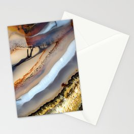 Agate abstract 1733 Stationery Cards