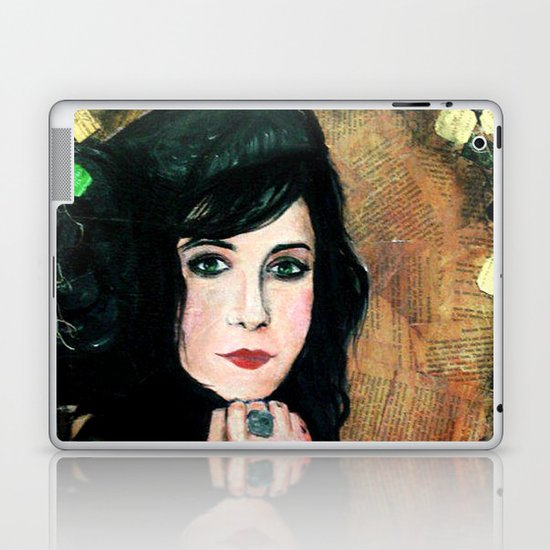 Green Lady Laptop & iPad Skin