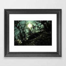 Above the Trees Framed Art Print