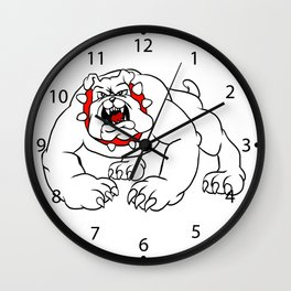 angry bulldog. Wall Clock