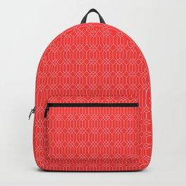 Geometric - Warm Red Backpack