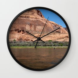 Fishing the Colorado River Wall Clock