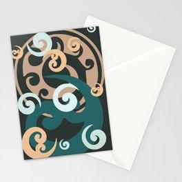 Koru Design, Grey Background Stationery Cards
