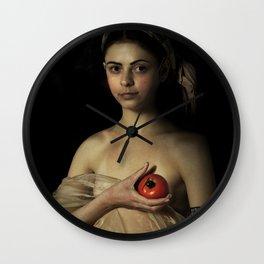 Raffaello Sanzio - La Fornarina Wall Clock
