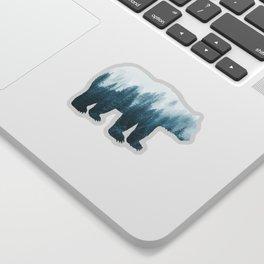 Misty Forest Bear - Turqoise Sticker