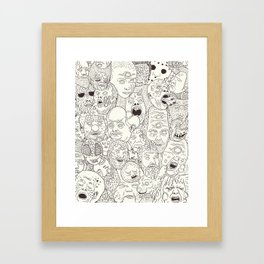 Faces of Math (no color edition)  Framed Art Print