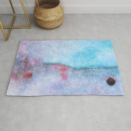 stained fantasy bullet impact Rug