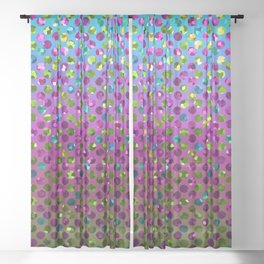 Polka Dot Sparkley Jewels G377 Sheer Curtain