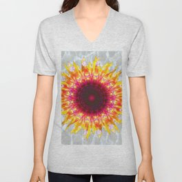 sunflower happiness Unisex V-Neck