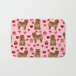 Chow Chow dog breed pure breed valentines day cupcakes love pet gifts must have doggo pupper lovers Bath Mat