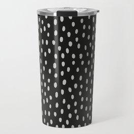 Hand painted black gray watercolor brushstrokes pattern Travel Mug