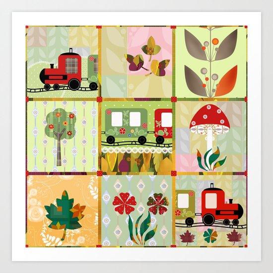 Children's Dominoes. Cubes. Art Print