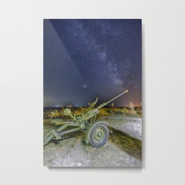 Milky Way and the Perseids Metal Print