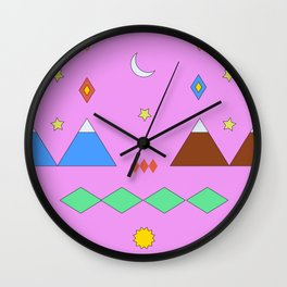 Visiting Temuco Wall Clock