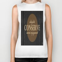 "leather Biker Tanks featuring LeAtHer COnSeRvE by ""CVogiatzi."