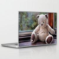 teddy bear Laptop & iPad Skins featuring Teddy Bear  by Fran Walding