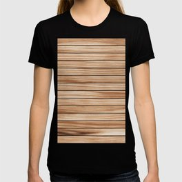 Nice Brown Wood Blend Pattern T-shirt