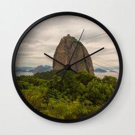 Pão de Açucar in Rio de Janeiro, Brasil Wall Clock