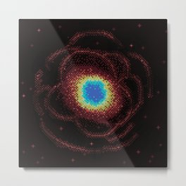 Ring Galaxy (8bit) Metal Print