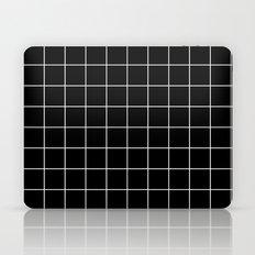 Black White Grid Laptop & iPad Skin