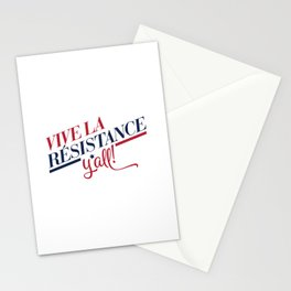 Vive La Résistance, y'all! Stationery Cards