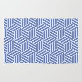 blue cubes Rug